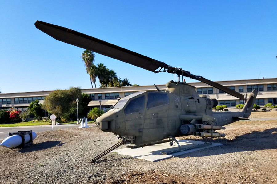 Bell AH-1 Cobra Helicopter Outside The Pub at Fiddler's Green