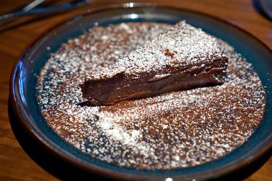 Chocolate Cake (flourless) with sea salt